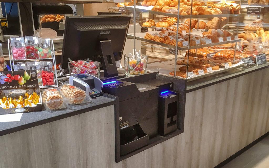 Monnayeur automatique Cashlogy Azkoyen boulangerie