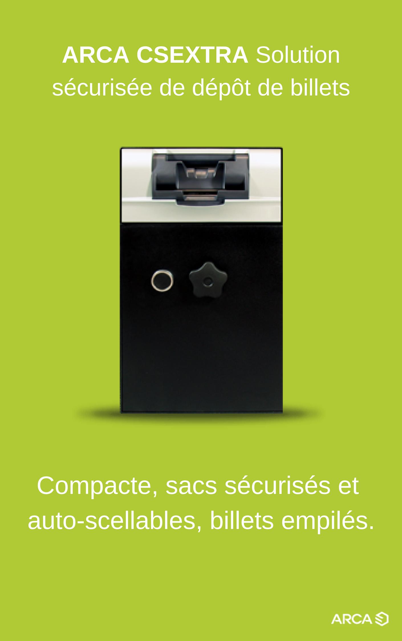 Brochure ARCA CSEXTRA Solution sécurisée de dépôt de Billets
