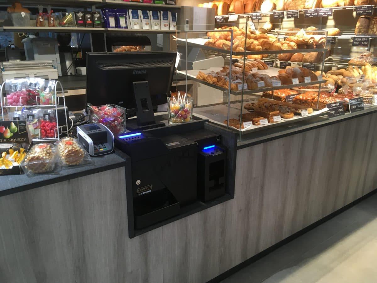 Caisse enregistreuse automatique Cashlogy boulangerie